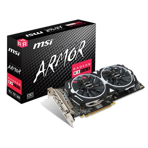 MSI 그래픽카드 RADEON RX 580 아머 OC D5 8GB RX580AR