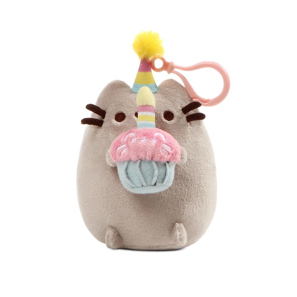 매직캐슬 푸쉰고양이 생일 축하 인형 가방고리, 13cm, 혼합 색상