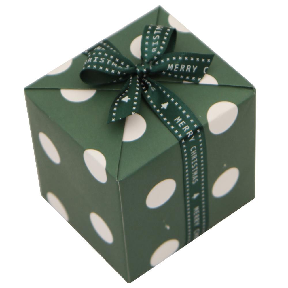 봄91 크리스마스 포장지 패턴 4p + 15mm 크리스마스 레터링리본, 포장지(그린 도트), 레터링 리본(랜덤 발송), 1세트
