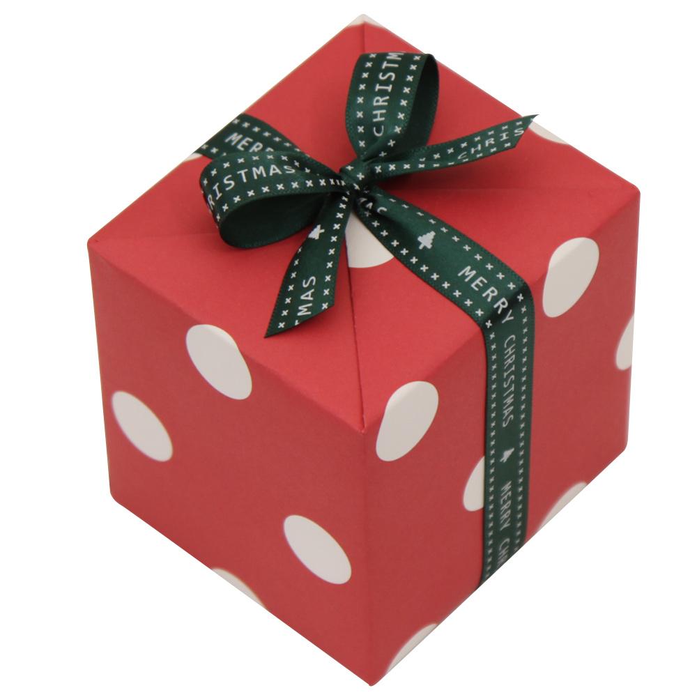 봄91 크리스마스 포장지 패턴 레드 도트 4p + 15mm 크리스마스 레터링리본 9.1m 랜덤 발송, 혼합 색상, 1세트