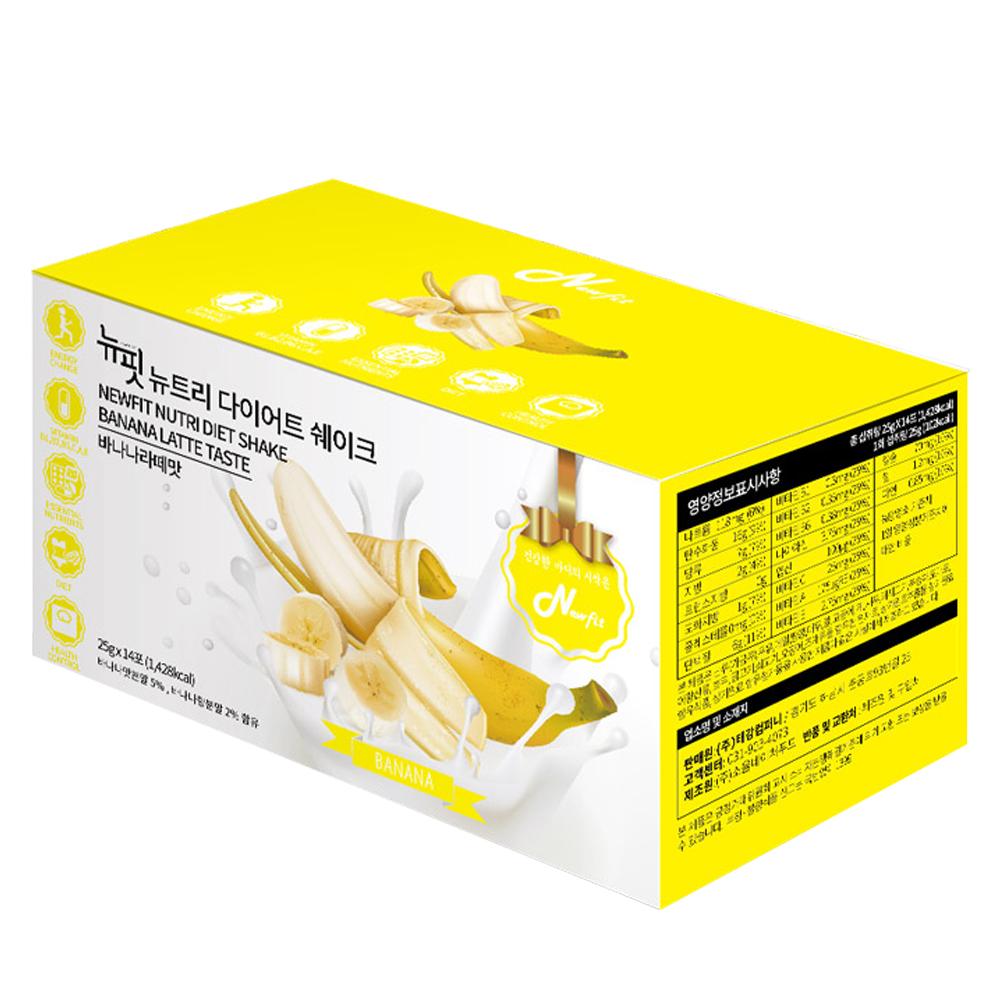 뉴핏 단백질 다이어트 쉐이크 바나나맛, 25g, 14포