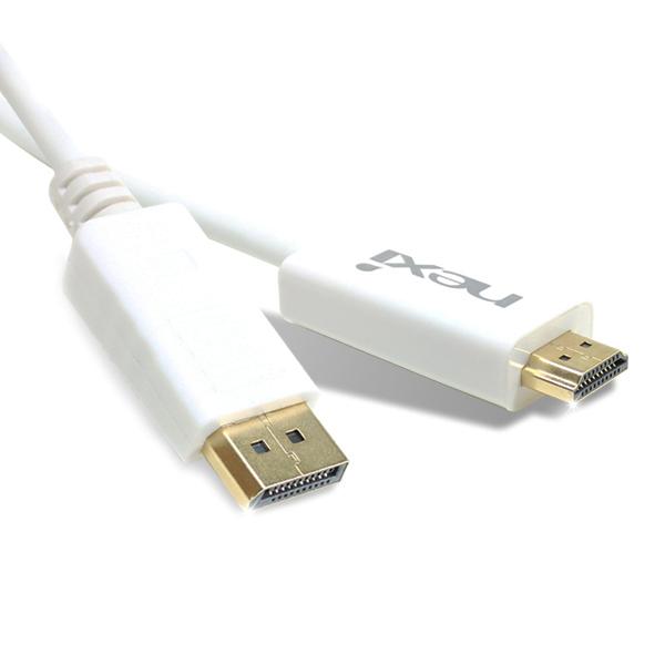 넥시 DP to HDMI 케이블 1.8m ver 1.1 디스플레이포트, NX-DP TO HDMI 1.8M