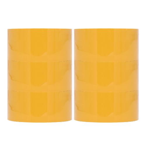 오공본드 OPP 박스테이프 중포장 아크릴타입 50m x 48mm, 황색, 6개 (POP 159835412)