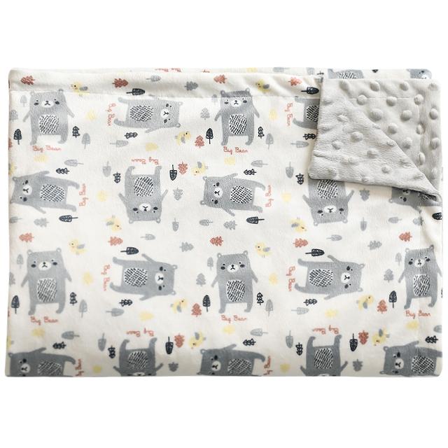 [아기담요] 하늬통상 더블 극세사 아기담요 블랭킷 120 x 75 cm, 그레이곰 - 랭킹7위 (13760원)