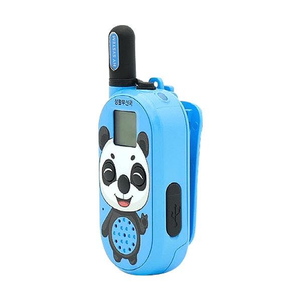 나노팬더 소형 미아 방지용 안전 용품 캐릭터 생활무전기, 블루