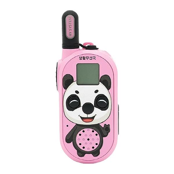 나노팬더 소형 미아 방지용 안전 용품 캐릭터 생활무전기, 핑크