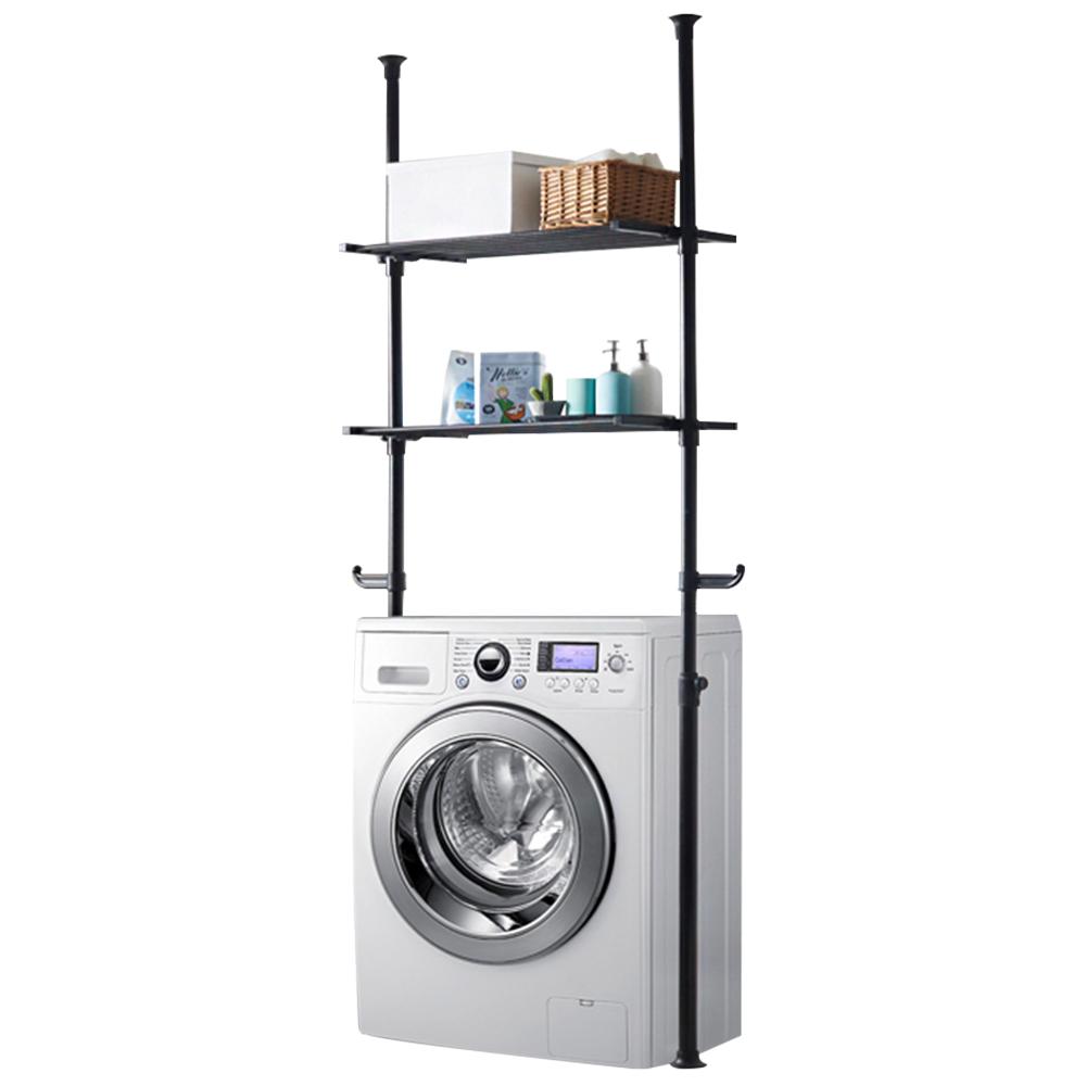 하우스데이 나사방식 세탁기선반 전용 2단 블랙