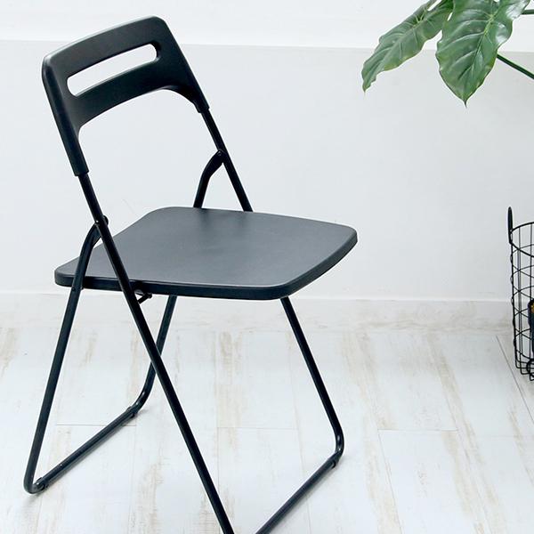 리빙해피 매트 사각 의자, 블랙