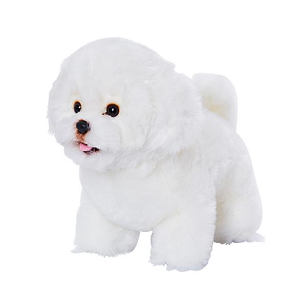 위더펫 비숑 강아지 인형, 28cm, 혼합 색상