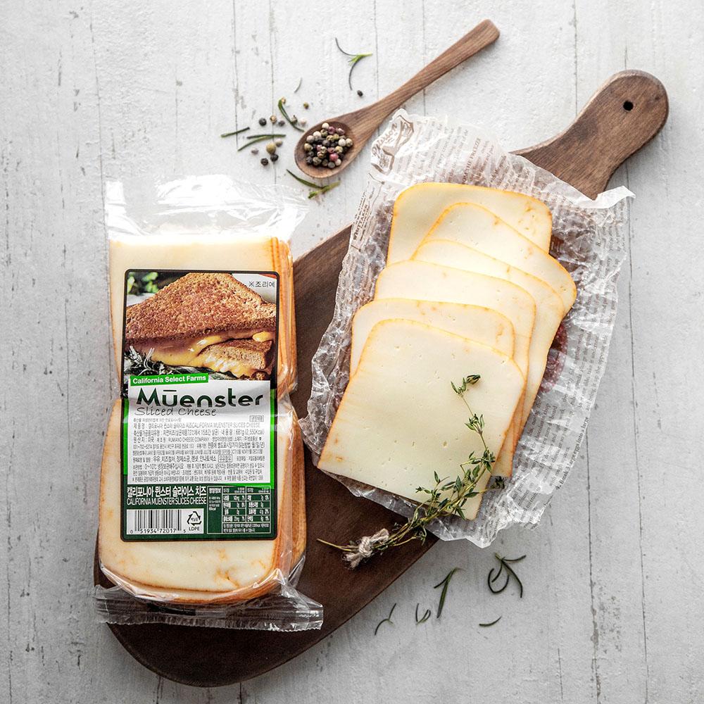 캘리포니아셀랙드팜스 뮌스터 슬라이스 치즈, 681g, 1개