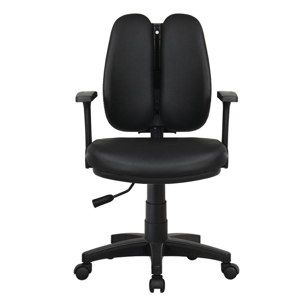 이편한의자 버블 레자 의자 3011, 블랙