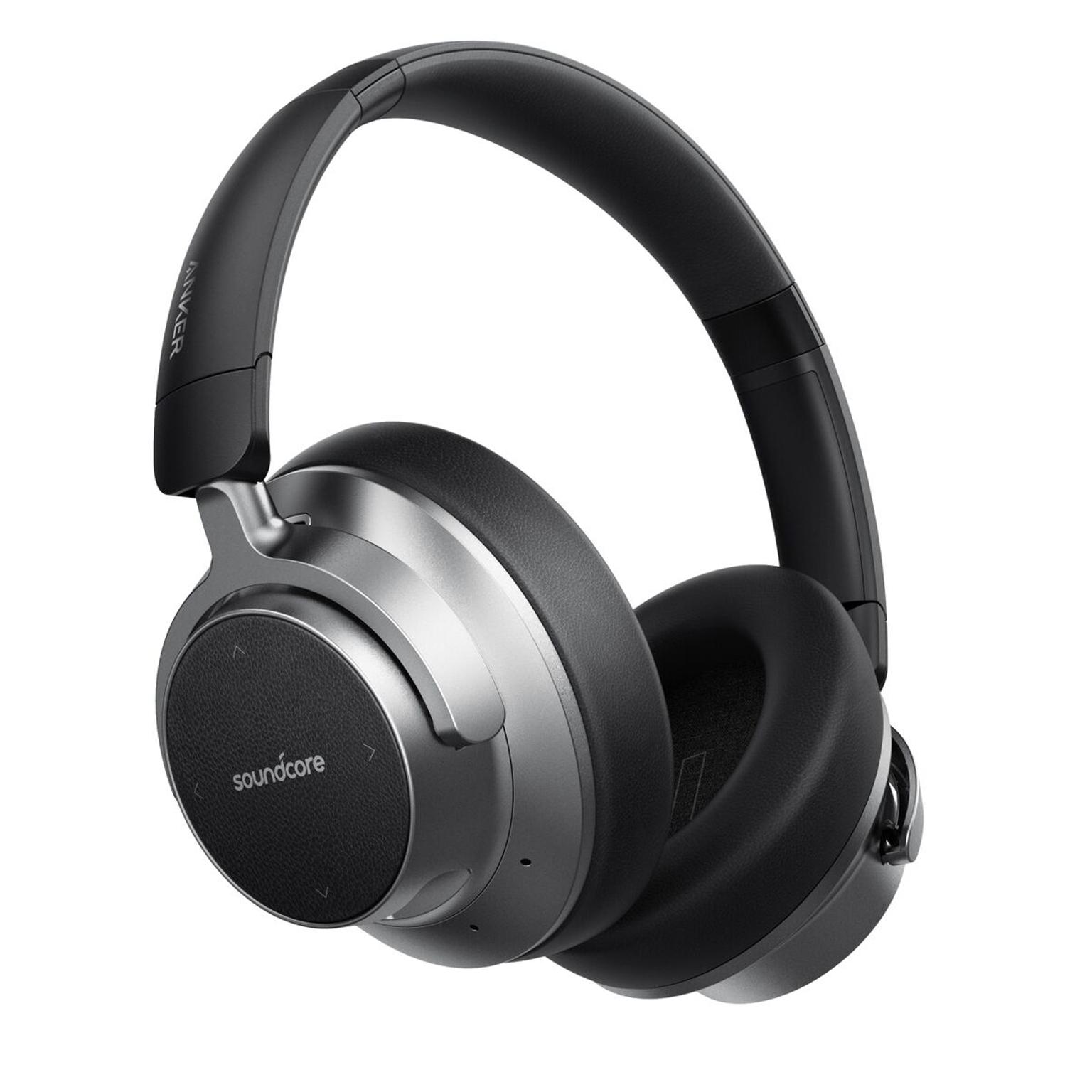 앤커 사운드코어 스페이스 노이즈 캔슬링 블루투스 헤드폰, 블랙, A3021HF1