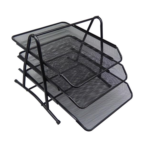 블루마토 DIY 스틸 3층 서류정리함 300 x 345 x 267 mm, 블랙, 3단