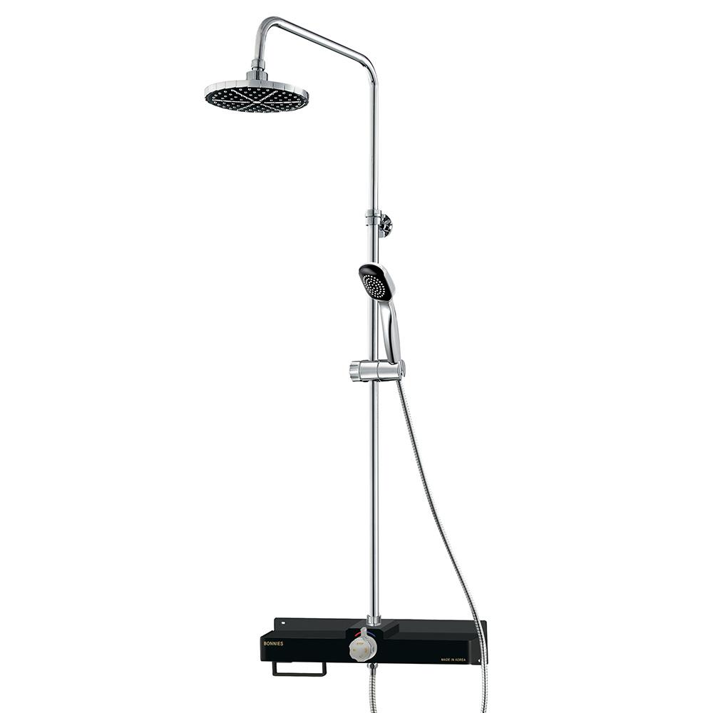 코시나 일체형 해바라기 샤워기 블랙 KXN-430W, 1개