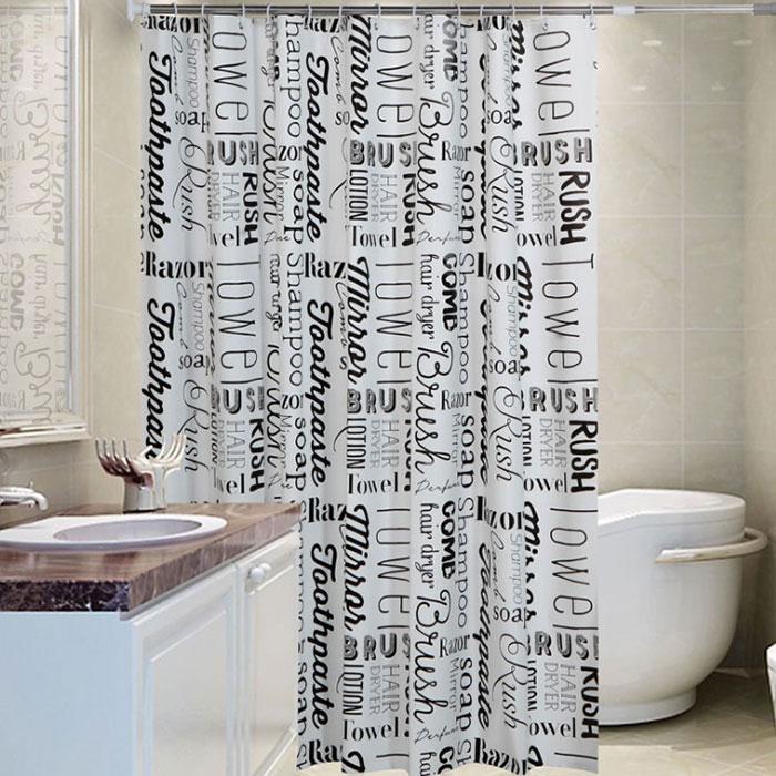 앤티스 욕실 파티션 커튼 180 x 200 cm 뉴스페이퍼, 1개