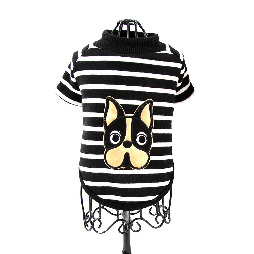 도그아이 골드 프렌치불독 강아지옷, 블랙