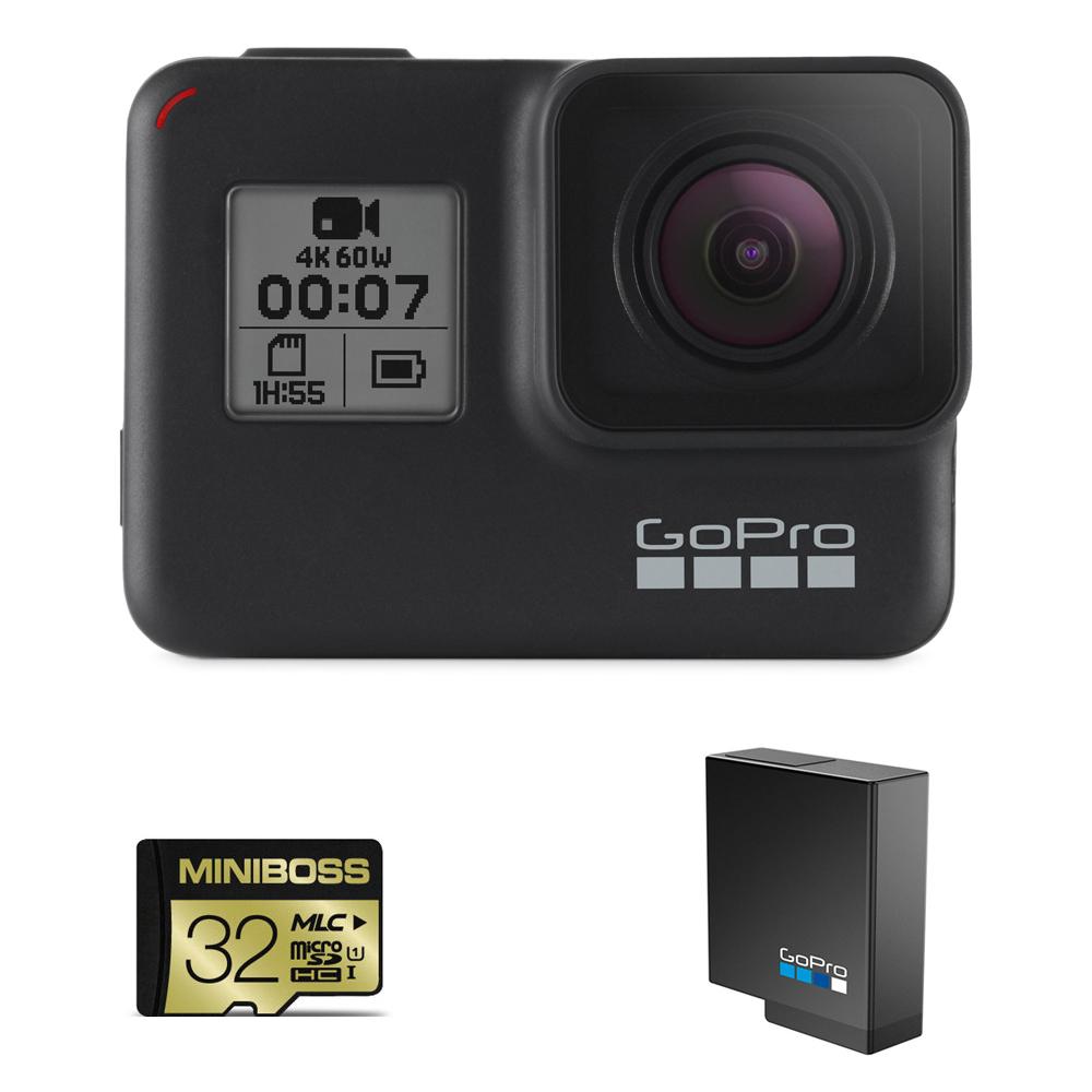 고프로 히어로7 블랙 액션캠 SPCH1 + 32GB 메모리 + 배터리
