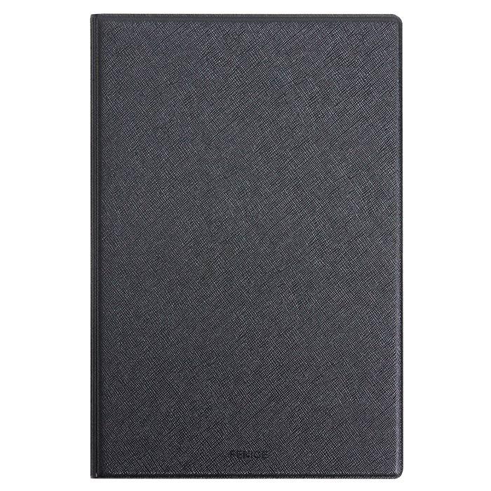 FENICE 오피스 PU 메모패드 A4 + 속지, 블랙, 1세트