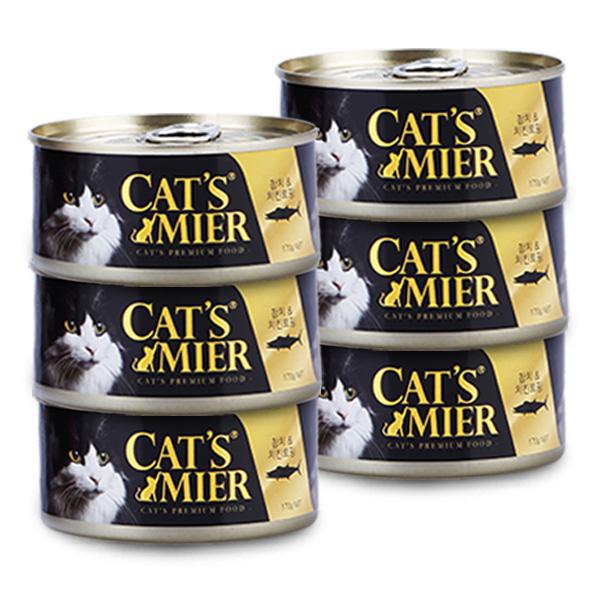 캣츠미어 고양이 사료 참치와 치킨토핑, 170g, 6개입