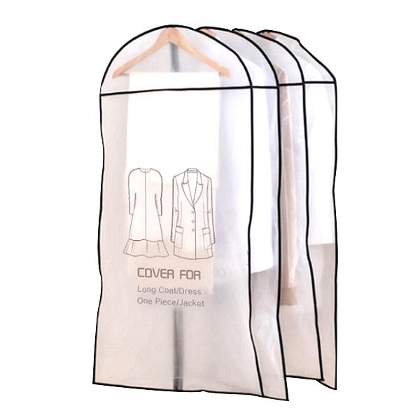 영그린 투명 방수 옷커버, 4개입, 1개