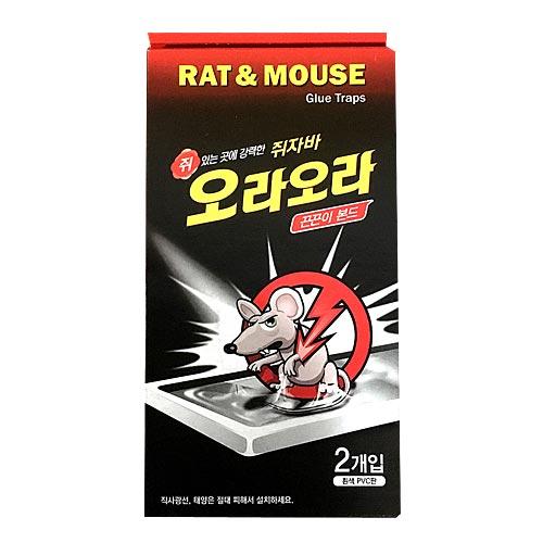 대일제약 쥐자바 오라오라 쥐 포획용 끈끈이 본드, 2개입, 1개