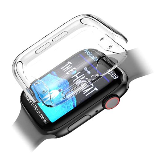 뷰씨 애플워치 풀커버 투명 젤리 케이스 38mm, 1개