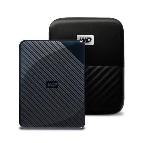 WD My Passport Game for PS4 외장하드 WDBZGE0040BBK-WESN + 파우치, 2TB, 혼합 색상