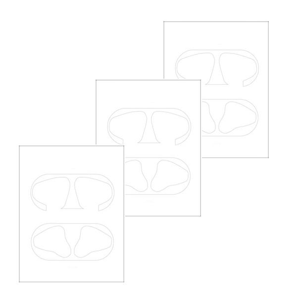 누아트 에어팟 철가루 방지 스티커 3p, 단일 상품, 투명