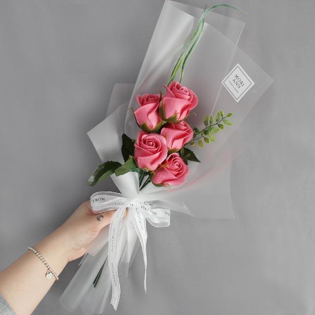 모리앤 샤르망 로즈 꽃다발, 진핑크