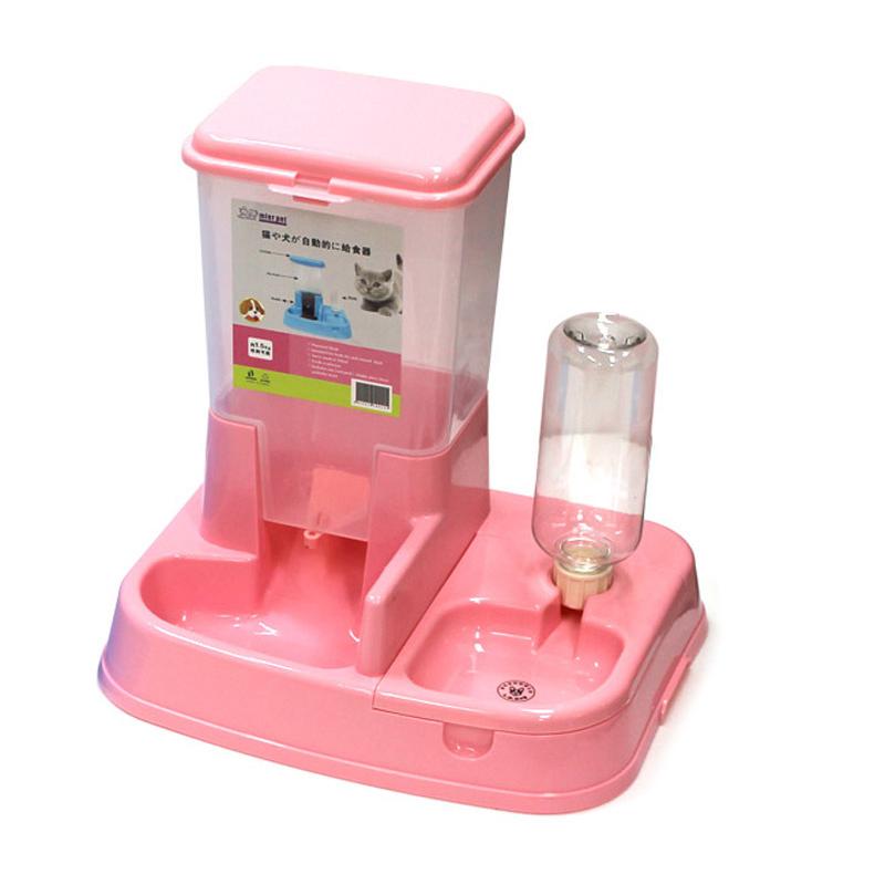라무어 반려인 필수 펫 자동급식기, 핑크