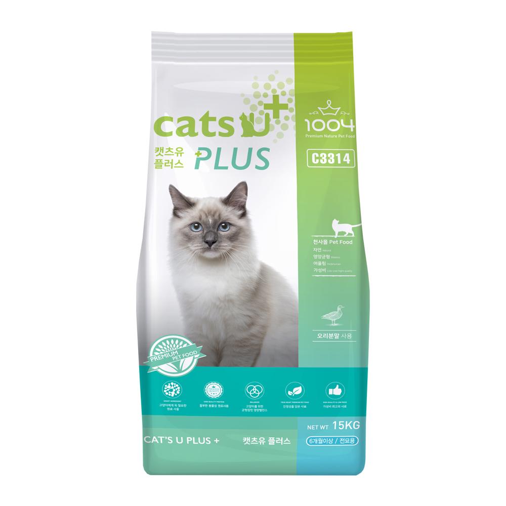 1004 캣츠유 플러스 고양이사료, 15kg, 1개