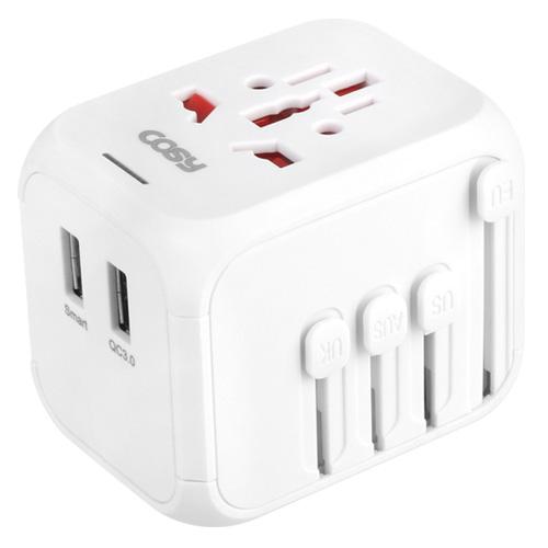 코시 누크 여행용 아답터 QC3.0 + USB TA3348UQ, 1개