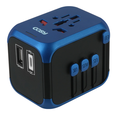 코시 하츠 PD + USB 타입C 여행용 아답터 TA3349UP, 1개