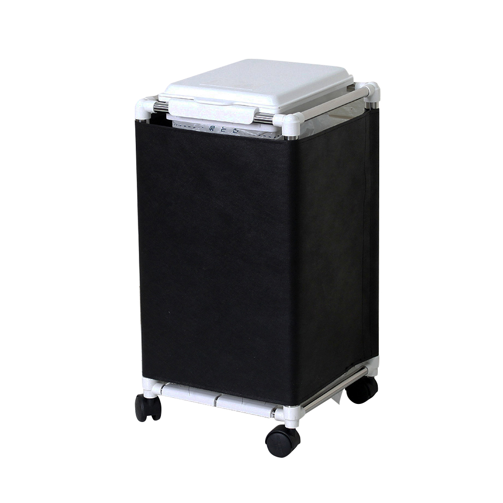 센스2030 종량제 커버형 사각 휴지통 20L, 화이트, 1개