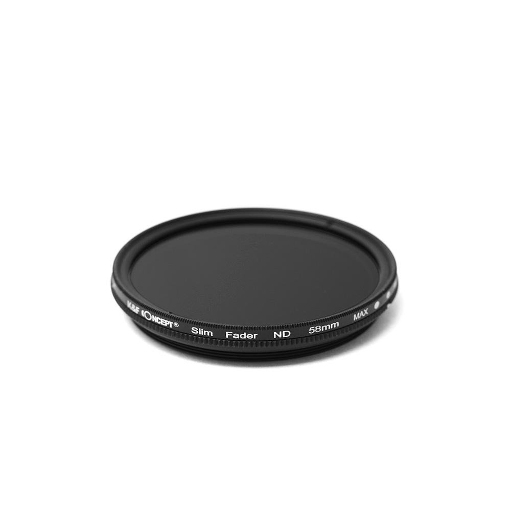 K&FCONCEPT Slim 가변ND필터 58mm, ND2-400 JAPAN OPTICS