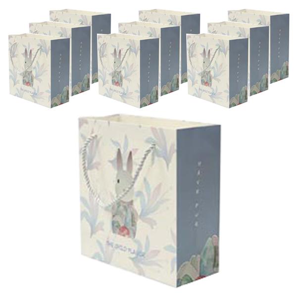 에이비엠 러블리레빗 쇼핑백 10p, 혼합 색상