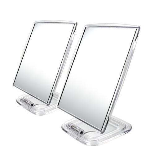세븐스타 사각 스탠드 거울 중 2p, 투명
