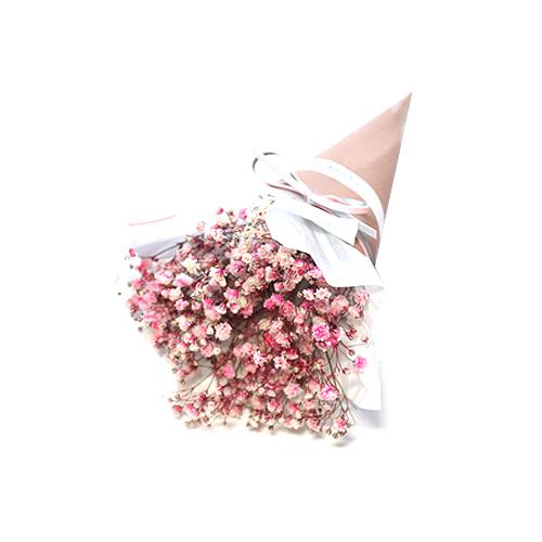 도시정원 안개프리져브드 꽃다발 중, 혼합 색상