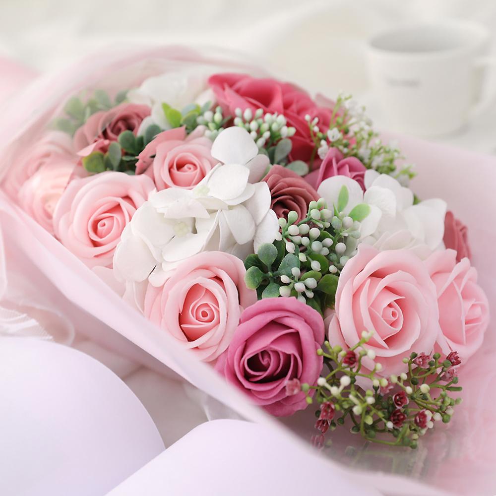 행복한마을 비누꽃 행복한날들 꽃다발, 핑크