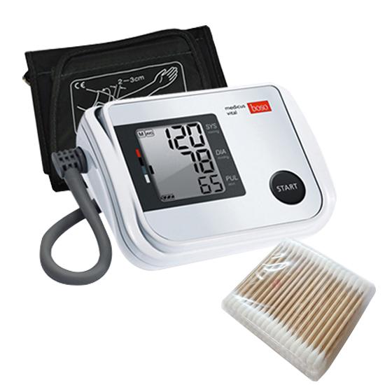 보소 메디쿠스바이탈 자동 전자 혈압계 팔뚝형 478-0-143 + 면봉 100p, 1세트