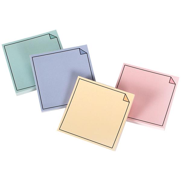 톡톡팬시 떡메모지 모서리접힌 4종세트, pink, mint, yellow, violet, 1세트