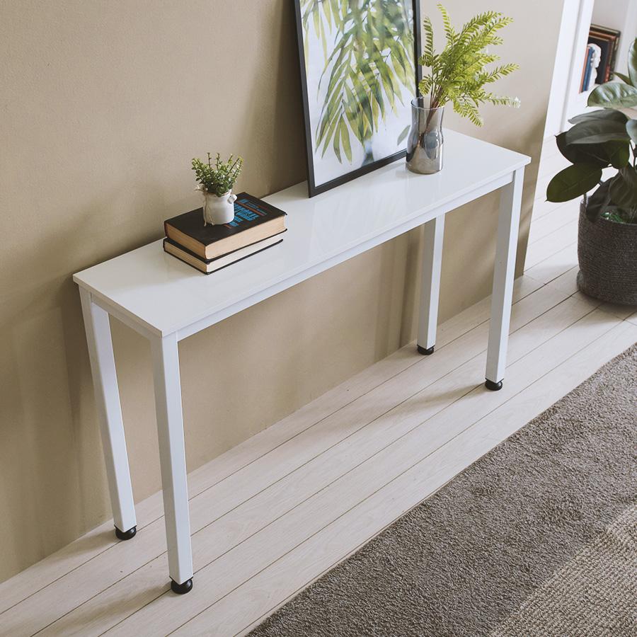 홈인홈 알피노 홈테이블 테이블형 1200 x 300 x 720 mm, 화이트 + 화이트