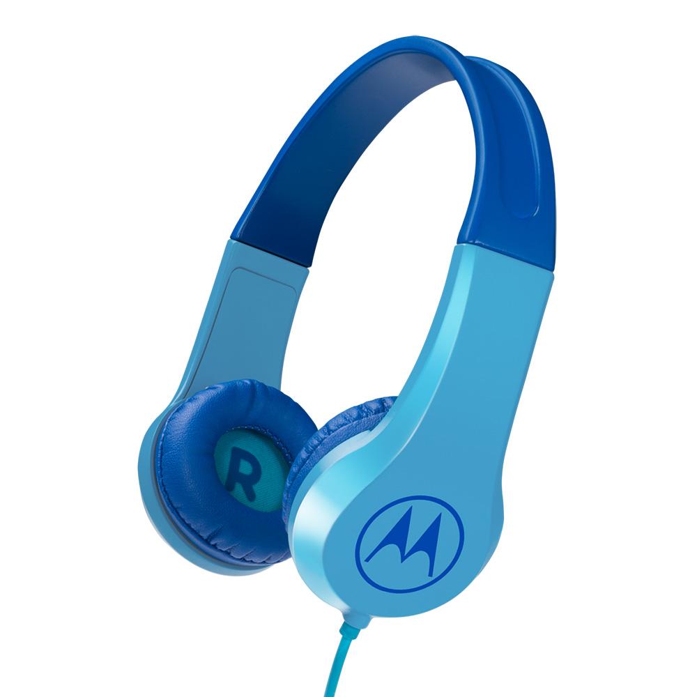 모토로라 스쿼드 키즈 200 유선 어린이 헤드폰, 블루, JY-M273