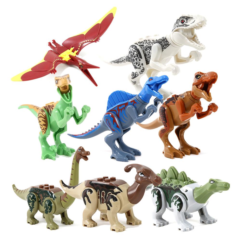 이앤오 움직이는 공룡 블록 8종 풀세트, 혼합 색상