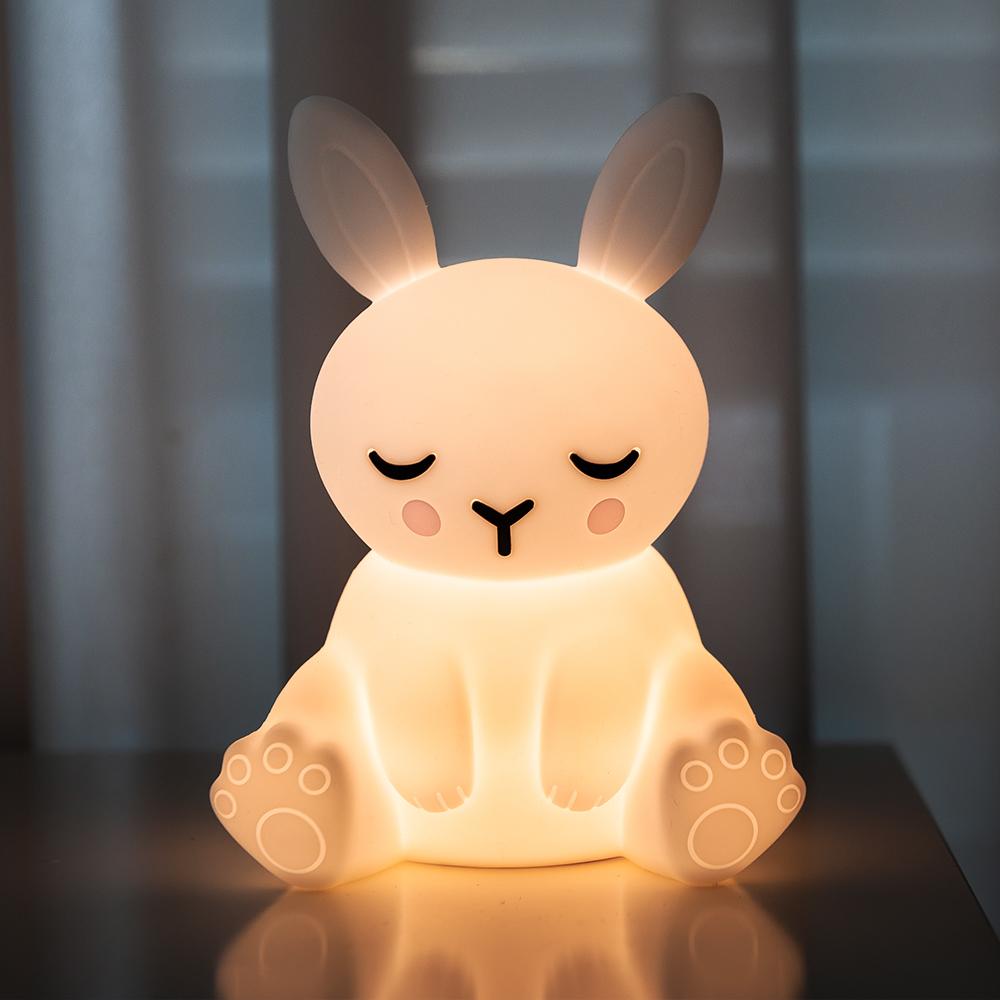 레토 충전식 무선 실리콘 터치 LED 애니멀 무드등, LML-R02 토끼