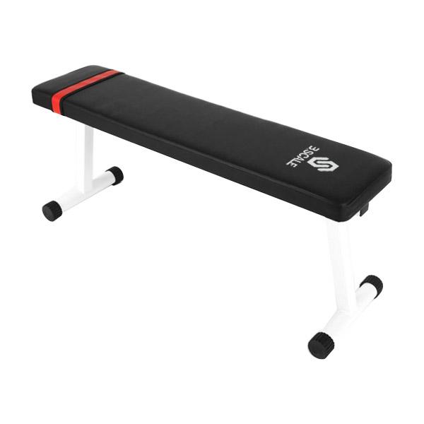 반석스포츠 스케일 원터치 평벤치, 블랙 + 화이트