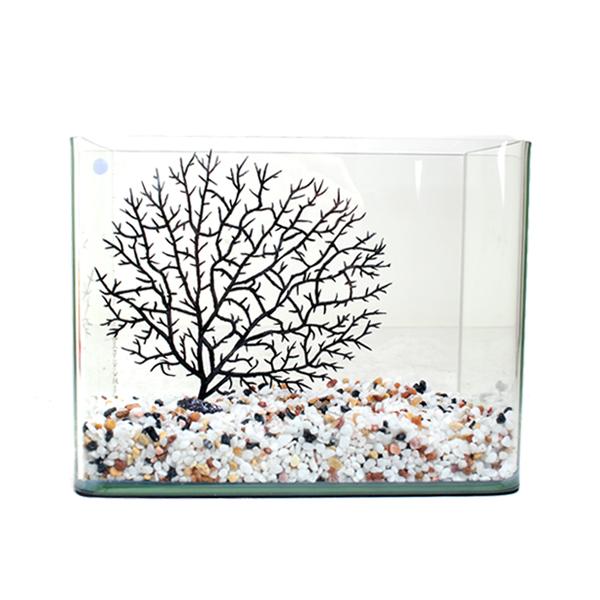 피쉬매니저 어항 22cm + 오색사 1kg + 인조수초 장식 SET3, 혼합 색상, 1개