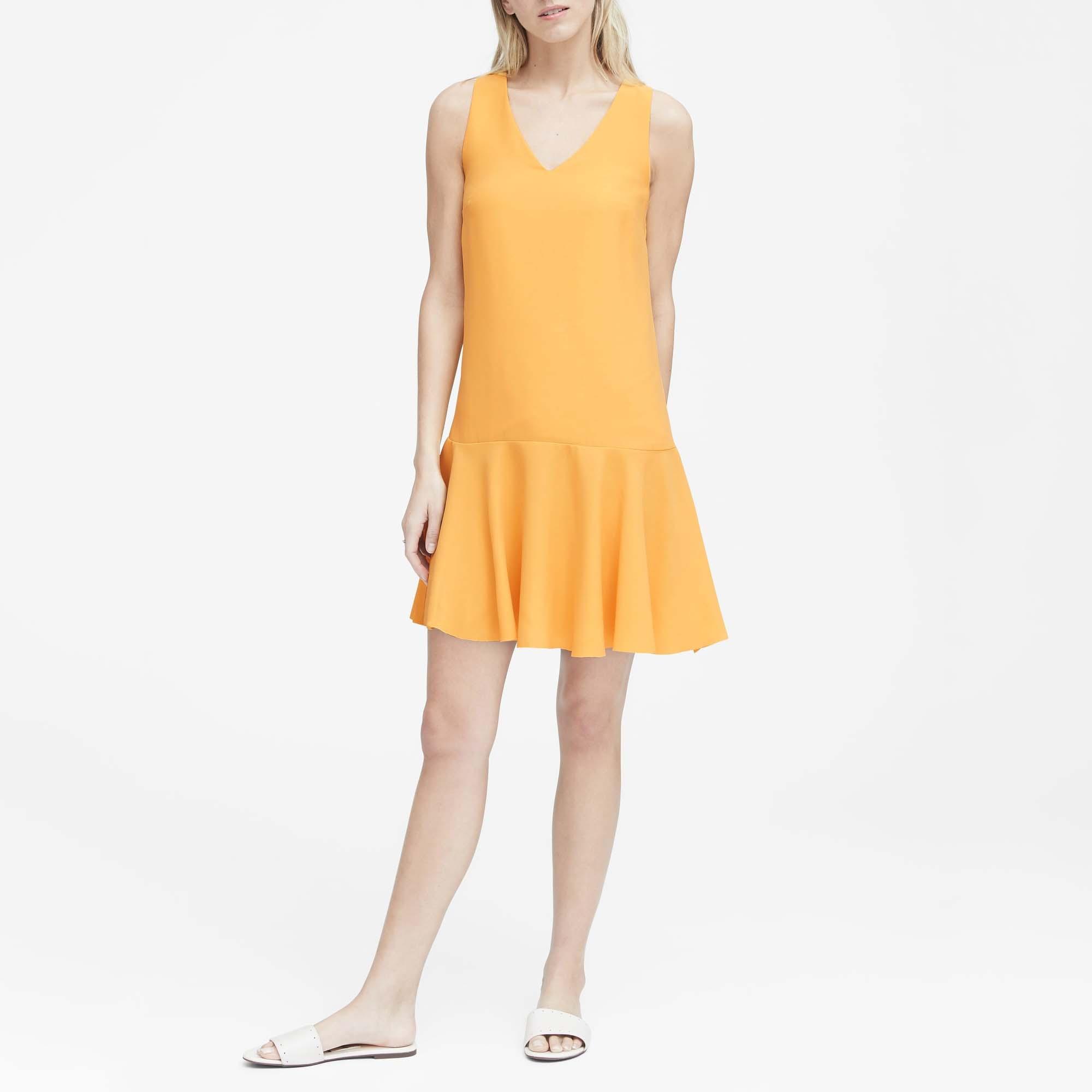 바나나리퍼블릭 여성 드롭 웨이스트 시프트 드레스
