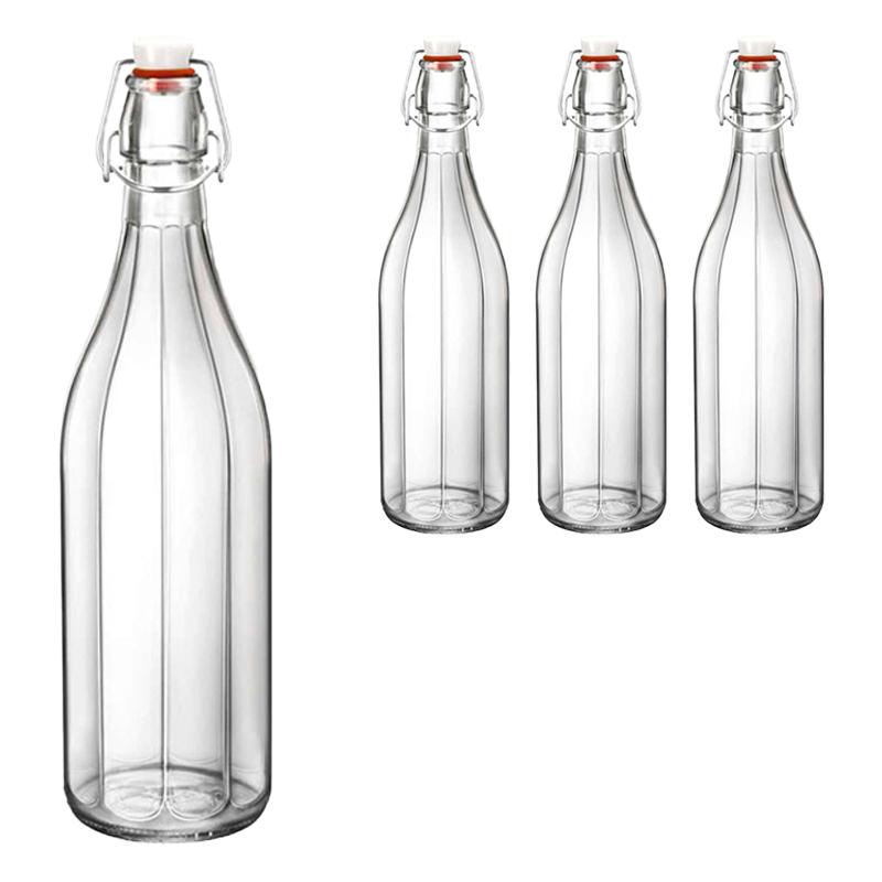 보르미올리 옥스포드 냉장고물병 1L x 4p + 기프트박스 4p, 혼합 색상