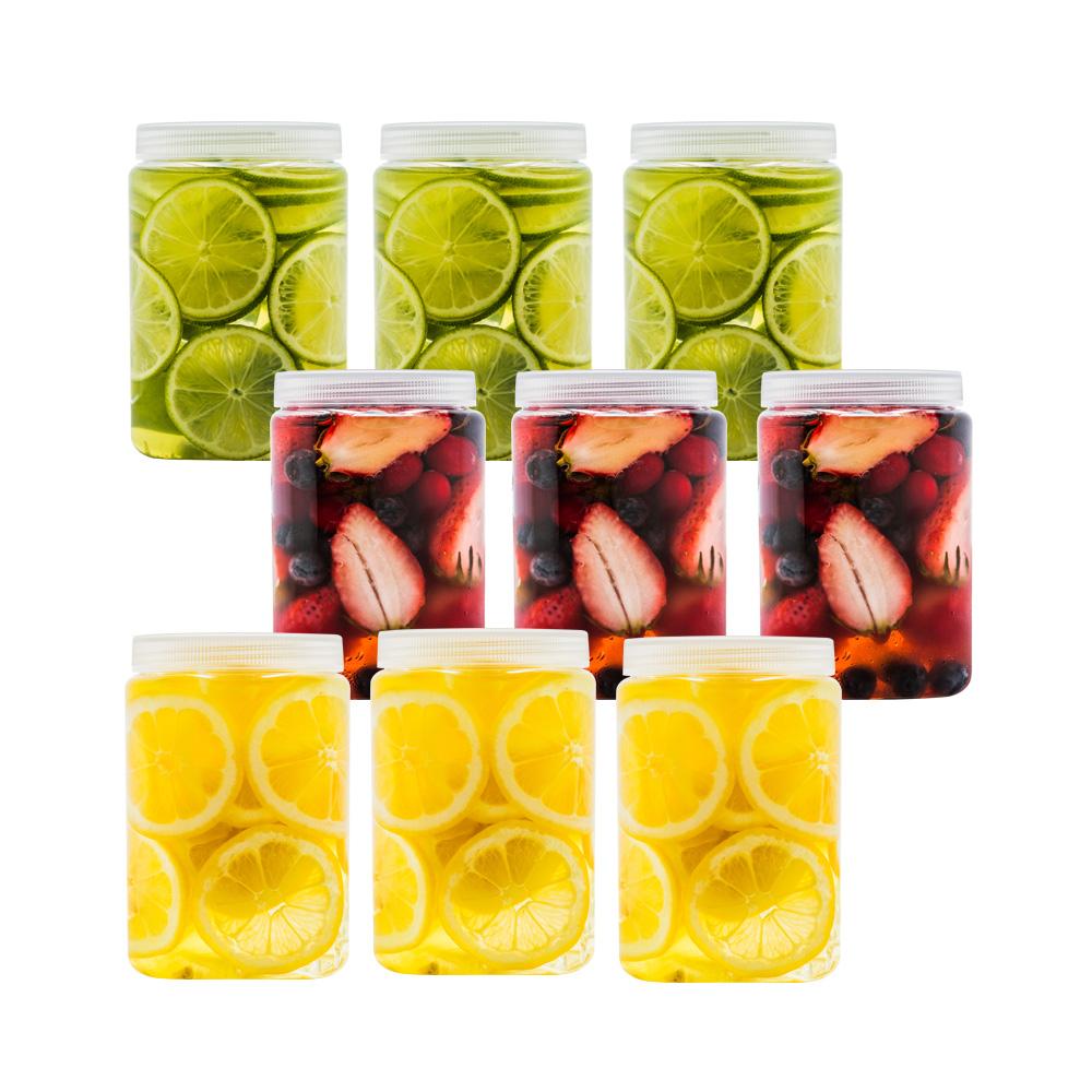 실리쿡 냉장고수납용기 사각하프, 1개입, 9개